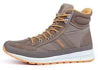 Ботинки женские замшевые коричневые на шнуровке Jazz TM Restime, Коричневый, 36