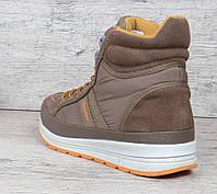 Ботинки женские замшевые коричневые на шнуровке Jazz TM Restime, Коричневый, 37