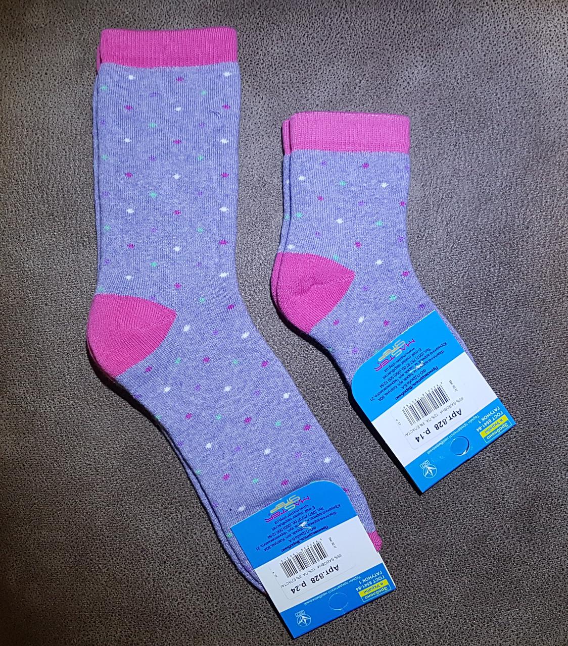 """Носки махровые """"Горошек"""", размер 24 /36-38р."""