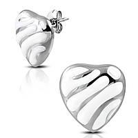 Сережки з медичної сталі «Серце»