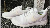 Кроссовки Nike Roshe Run White Белые женские