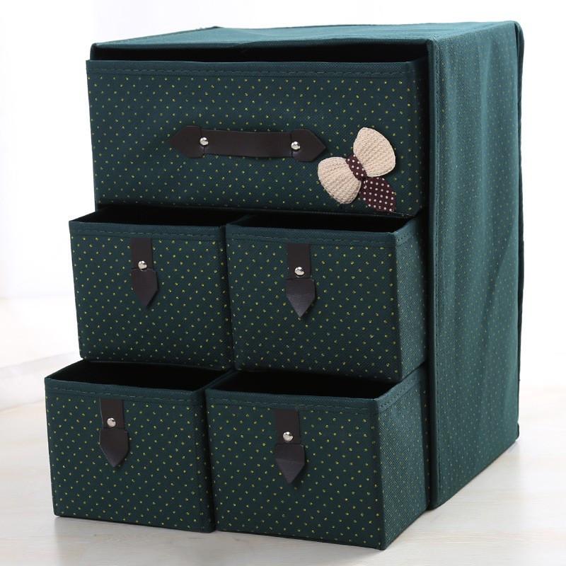 Органайзер для білизни і одягу Комодик 5 ящиків Зелений