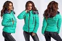 Зимняя курточка с карманами на груди