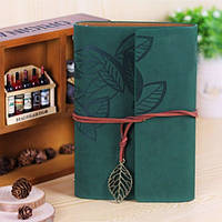Винтажный подарочный блокнот А5 сине-зеленый, фото 1