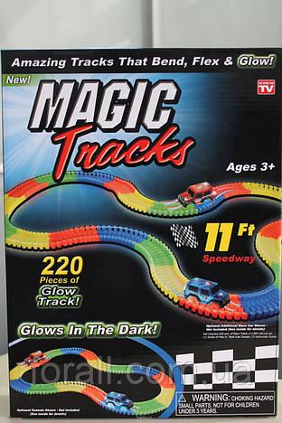 Детский светящийся гибкий трек Magic Tracks Магик трек: 220 деталей 909-231