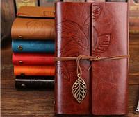 Винтажный подарочный блокнот А5 коричневый ( глянец )