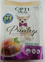 Optimeal (Оптимил) Защита иммунитета пауч беззерновой  для малых пород собак с индейкой и печенью 0,085