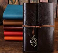 Винтажный подарочный блокнот А5 темно коричневый ( глянец ) , фото 1