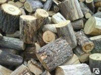 Чурки твердых пород древесины.