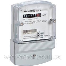 Лічильник НІК 2102-02 М2В, 5(60)А, 1ф, електромеханічний однотарифний 220 W   (ГОСТ 30207)