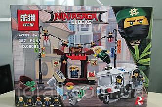 """Конструктор Ninjago Movie Lepin 06053 (аналог Lego 70607) """"Ограбление киоска в Ниндзяго Сити"""""""