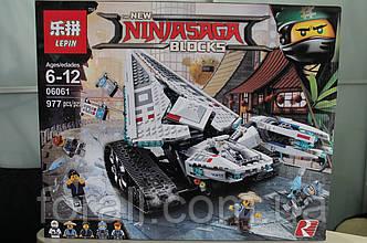 Конструктор Lepin 06061 Ледяной танк - аналог лего 70616 Ниндзяго муви