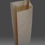 Пакет бумажный для шаормы, пирожков, бурый крафт 35гр/м2, 0+0