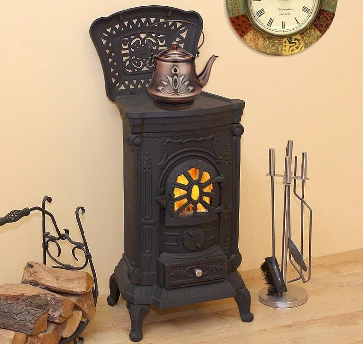 Камин печь буржуйка чугунная Bonro Black 8 кВт Топка
