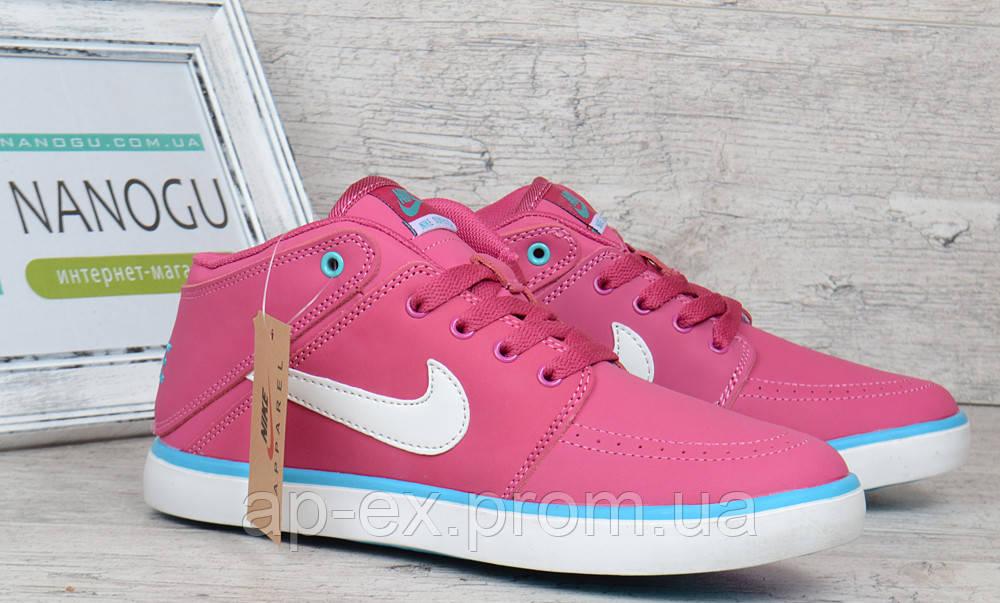 Кроссовки слипоны кожаные Nike Suketo розовые , Малиновый, 36 - АПЕКС-интернет-магазин в Днепре