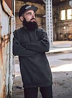 Мужской удлиненный свитшот  Punch - Longeron, Grey темно-серый