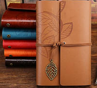 Винтажный подарочный блокнот А5 коричневый ( матовый)