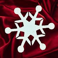 Снежинка из пенопласта №7 (20см, 30см, 40см, 50см, 60 см, 70 см, 80 см, 90см, 100см)