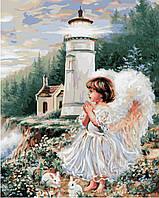 Картина по номерам Ангел у маяка (BRM8490) 40 х 50 см