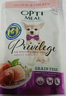 Optimeal (Оптимил) Защита иммунитета пауч беззерновой  для малых пород собак с телятиной и филе с курицы 0,085