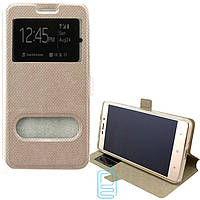 Чехол-книжка Modern с окном Samsung J1 Mini J105 золотистый