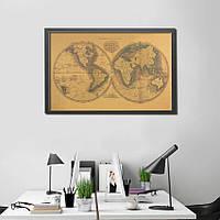 Декор: Ретро стиль - Крафт Карта мира.