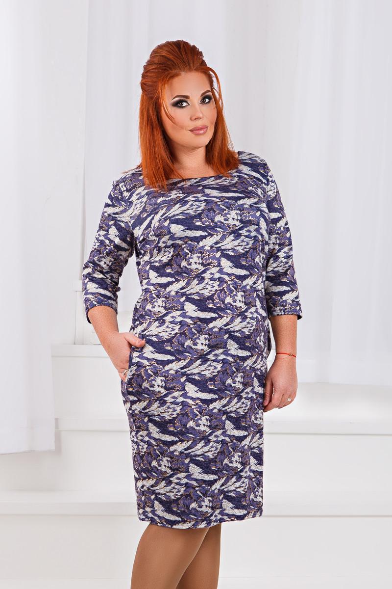 Д1325 Платье с принтом размеры 50-56