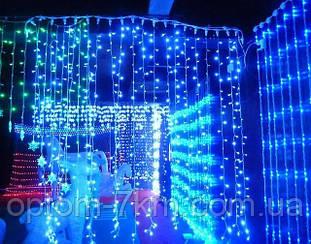 Гирлянда 350 л. LED Штора 2.5м.*2.5м. белый провод
