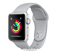 Apple Watch Series 3 (GPS) 38mm Silver Aluminum Case with Fog Sport Band (MQKU2)