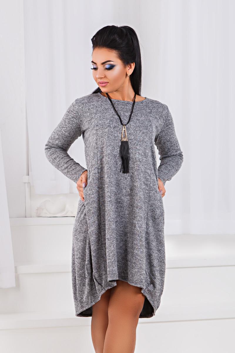 ДР1547 Платье ассиметричное размеры 50-56