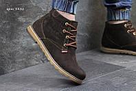 Чоловічі зимові черевики  Levis коричневі  (3432)
