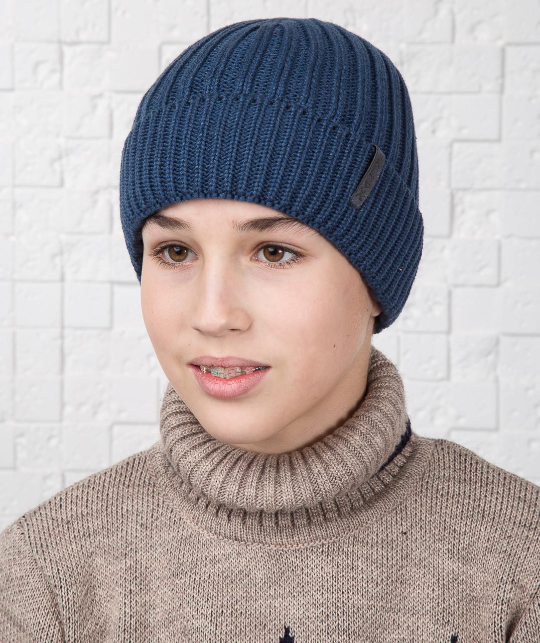 Зимняя шапка для мальчика подростка на флисе - Артикул AL17022