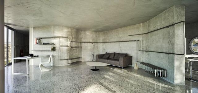 Интерьер бетон. брутализм. штукатурка под бетон