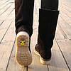 Зимние женские сапоги на низком ходу — черные из натуральной замши (36, 37, 38, 39, 40), фото 2