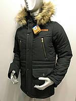 Мужская зимняя парка с мехом, куртка мужская 2017