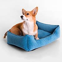Dog Fancy Blue - Причудливый (мягкий вельветовый лежак для собак)