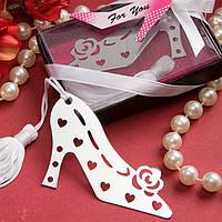 """Подарки гостям на свадьбе - Закладка для книги """"Высокий каблук"""""""