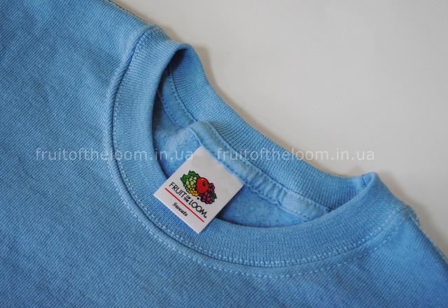 Небесно-голубой детский классический свитер