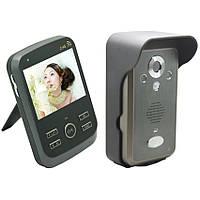 Видеодомофон беспроводной до 300 м с экраном и датчиком движения Kivos KDB301