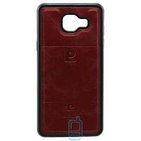 Чехол силикон-кожа Pierre Cardin Samsung A5 2016 A510 красный