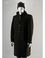 Мужское кашемировое пальто на пуговицах с капюшоном