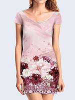 Платье Нежный цветочный принт