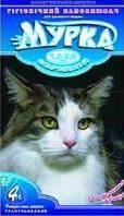 Комкующийся наполнитель Мурка для кошачьего туалета с лавандой, средний