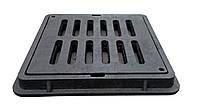 Дощоприймач прямокутний А15  з замком чорний, фото 1