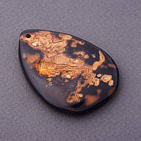 Кулон Агат цветной коричневый 3,5х5см