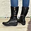 Женские ботинки на невысокой платформе, натуральная кожа флотар.Широкая голень!, фото 4