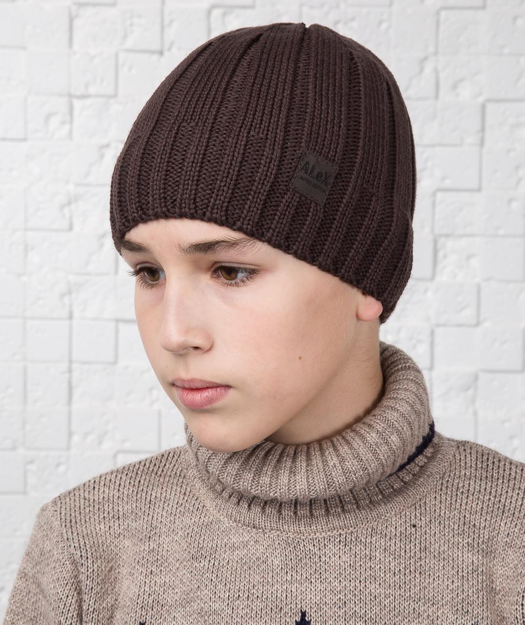 Повседневная шапка для мальчика подростка на флисе - Артикул AL17041