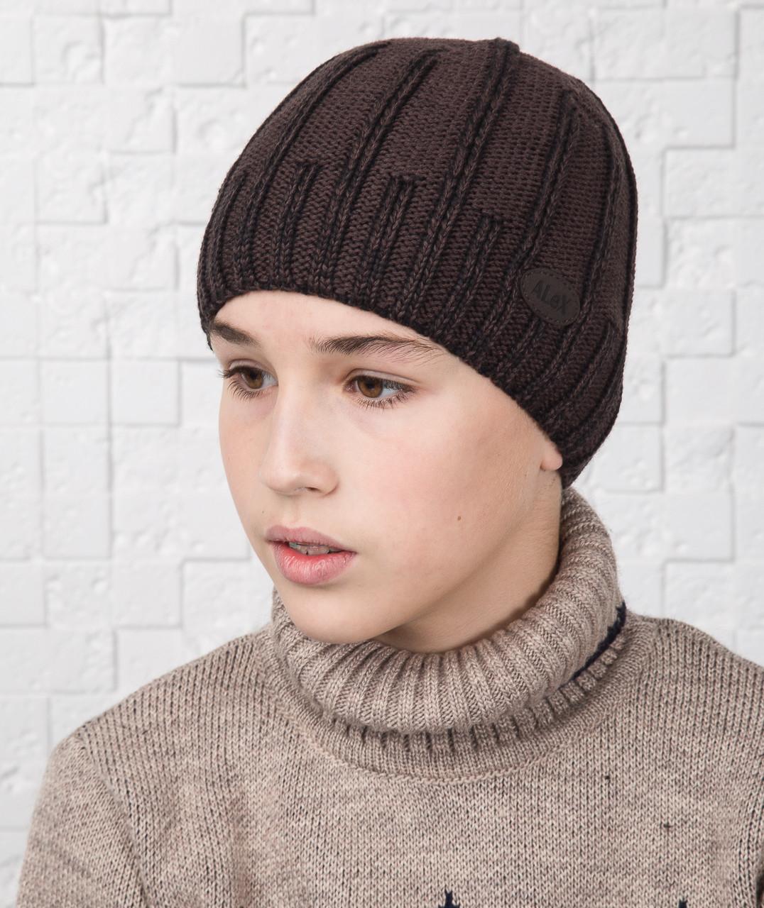 Повседневная шапка для мальчика подростка на флисе - Артикул AL17038