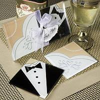 """Подарки гостям на свадьбе - Подставка """"Жених и невеста"""""""