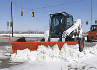 Уборка снега трактором. Мини трактор для уборки снега.